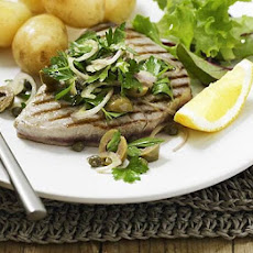 Grilled Tuna With Parsley Salad