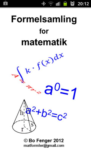 Formelsamling for matematik