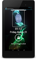 Screenshot of Fingerprint lock screen prank