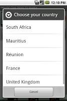 Screenshot of World Cup 2010 TV Guide