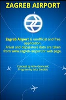 Screenshot of Zagreb Airport