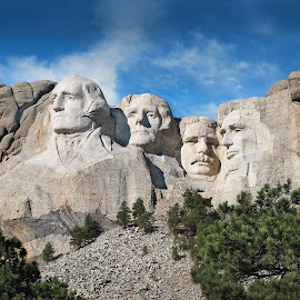 Mount Rushmore by Les Walker - Landscapes Travel ( black hills, sculpture, mountain, south dakota, rushmore,  )
