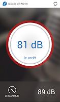 Screenshot of Sound meter - Simple dB Meter