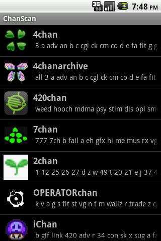 ChanScan의 Imageboard 브라우저