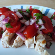 Grilled Chicken With Tomato-Raspberry Salsa
