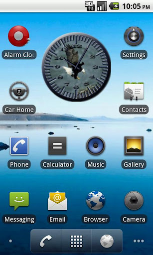 BoP 3 Bald Eagle Analog Clock