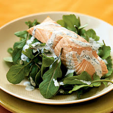 Salmon with Light Dill Sauce
