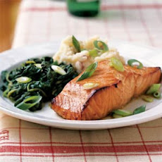Citrus Salmon with Garlicky Greens