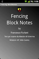 Screenshot of Fencing Block Notes