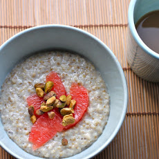 Steel Cut Oats with Grapefruit & Pistachios