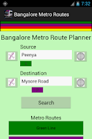 Screenshot of Bangalore Namma Metro Routes