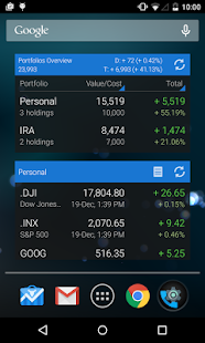 My Stocks Portfolio and Widget screenshot for Android