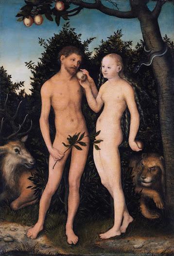 Cranach Lucas il vecchio, Adamo ed Eva