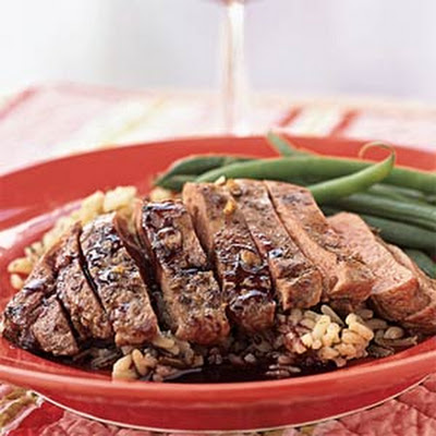 Seared Duck Breast with Ruby Port Sauce