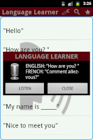 Screenshot of Language Learner