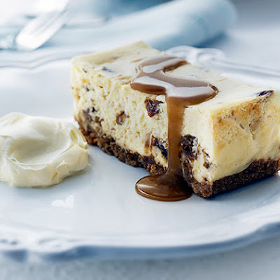 Sticky Date Cheesecake Slice with Caramel Fudge Sauce