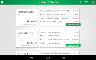 Screenshot of iGObanking Mobile