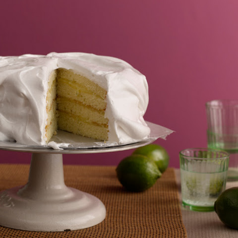Key Lime Meringue Cake