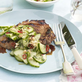 Barbecued sticky Chinese pork chops