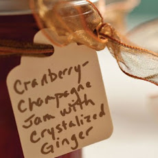 Cranberry-Champagne Jam with Ginger