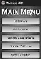 Screenshot of Machining Mate