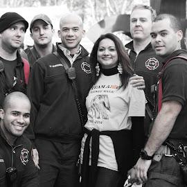Amy's Kidney Walk by Troy Phifer III - People Group/Corporate ( brooklyn bridge, amy, firemen, kidney, walk )