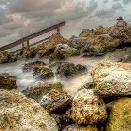 Between Water and Sky by Julian Popov - Landscapes Waterscapes ( clouds, water, sky, outdoor, landscape, rocks )