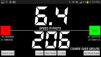 Screenshot of SailBot Sailing Instrument