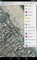 Screenshot of Send My Location