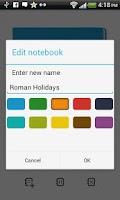 Screenshot of m>notes notepad