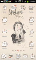 Screenshot of urban chic GO launcher theme