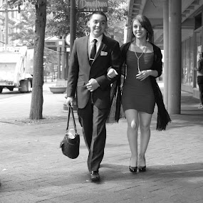 Courtship by Paul Hopkins - Black & White Street & Candid (  )