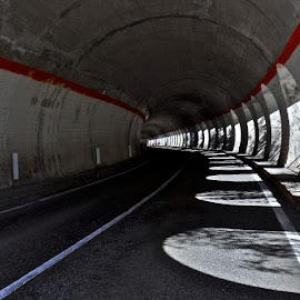 Tunnel by Luigi Alloni - Buildings & Architecture Architectural Detail ( lights shadows curve tunnel lines )