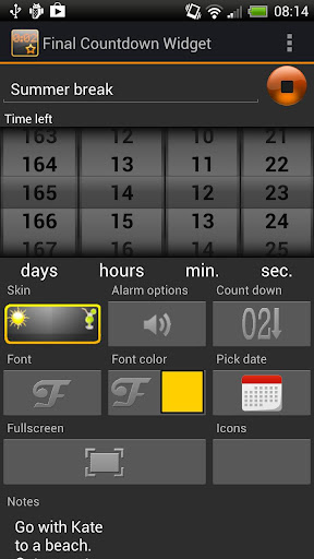 final-countdown-widget-2 for android screenshot