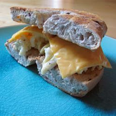 Blueberry Egg and Cheese Bagel