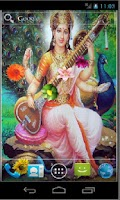 Screenshot of Goddess Saraswati HD LWP