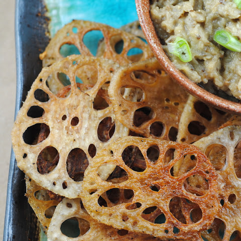 Crispy Baked Lotus Root Chips