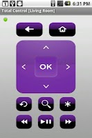 Screenshot of Total Control Remote for Roku