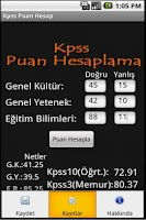 Screenshot of Kpss Puan Hesaplama