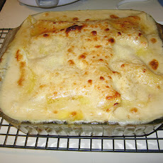 Artichoke and Yellow Squash Lasagna With Bechamel Sauce