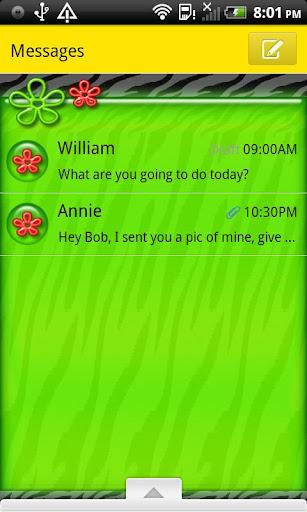 GO SMS THEME CartonTiger3