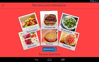 Screenshot of Mis Recetas para Adelgazar