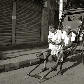 The Carriers.. by Arup Chowdhury - City,  Street & Park  Street Scenes