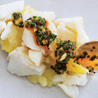 Cod with Potatoes and Preserved Lemon Relish