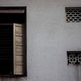 Open window by Nirav Raval - City,  Street & Park  Street Scenes ( window, street scene, open window )