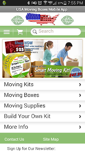 USA Moving Boxes Mobile Store - screenshot