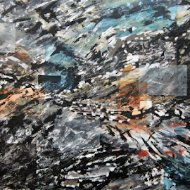 #9) 5ft. x 3ft. Acrylic, mixed media by Michael Munday - Painting All Painting