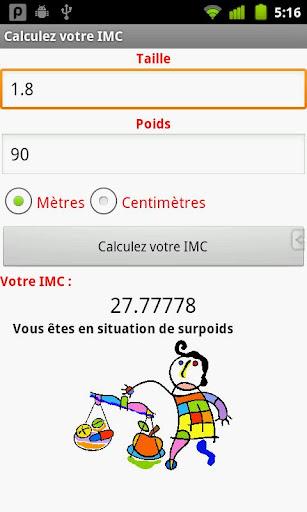Calculez votre IMC