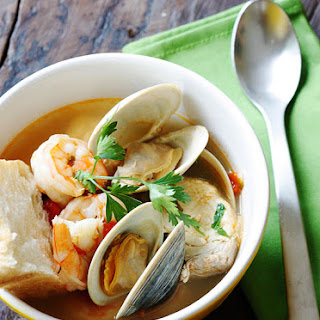 Halibut and Shellfish Soup