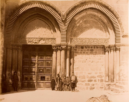 Gate of the famous Church of the Holy Sepulchre in Jerusalem